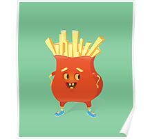 Happy French Fries Poster