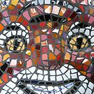 Mosaic Tiger mask by SusanSanford