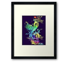 a key to hapiness Framed Print