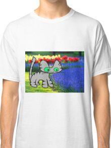 Cat Enjoys The Garden Classic T-Shirt