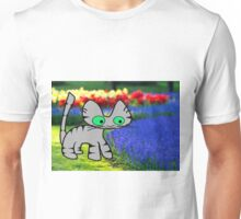 Cat Enjoys The Garden Unisex T-Shirt