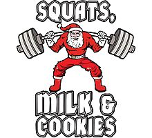 Squats, Milk and Cookies Photographic Print