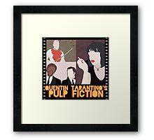 pulp fiction poster Framed Print