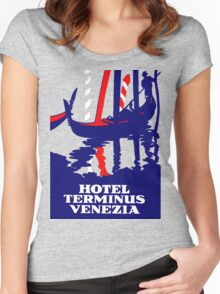 Antique Advertisement - Hotel Terminus, Venice Women's Fitted Scoop T-Shirt
