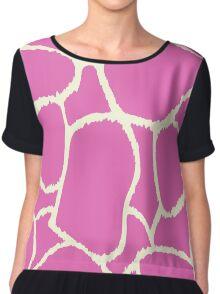 Seamless pink giraffe texture / pattern Chiffon Top