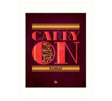 Kansas Carry On My Wayward Son Art Print