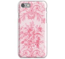 Vintage French Toile Rose Pink iPhone Case/Skin