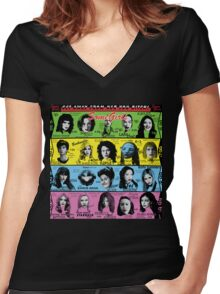 Some Girls Women's Fitted V-Neck T-Shirt