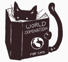 World Domination For Cats Kids Tee