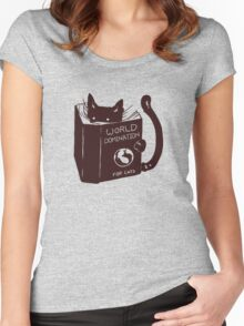 World Domination For Cats Women's Fitted Scoop T-Shirt