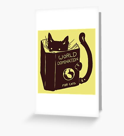 World Domination For Cats Greeting Card