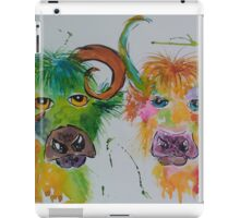 Colourful Quirky Cows iPad Case/Skin