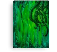 Cthulhu Dreaming in Green Canvas Print