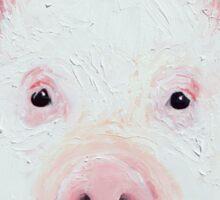 Happy Piglet on pink Sticker