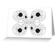 Hackers Skull Greeting Card