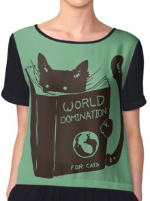 Cats Will Be Cats Chiffon Top