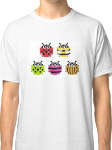Various bugs collection. Vector cartoon Illustration Classic T-Shirt