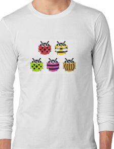 Various bugs collection. Vector cartoon Illustration Long Sleeve T-Shirt