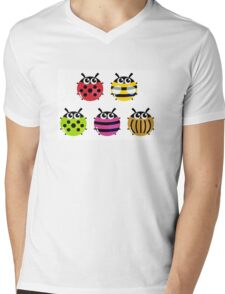 Various bugs collection. Vector cartoon Illustration Mens V-Neck T-Shirt