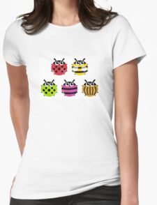 Various bugs collection. Vector cartoon Illustration Womens Fitted T-Shirt