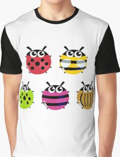Various bugs collection. Vector cartoon Illustration Graphic T-Shirt