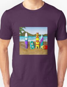 Boards at the Beach Unisex T-Shirt