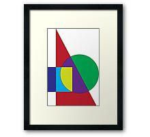 Bauahus Art Style Framed Print