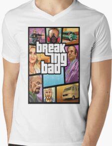 Grand theft auto breaking bad walter white jesse pinkman Mens V-Neck T-Shirt