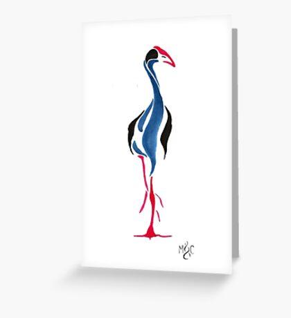Ink Pukeko Greeting Card