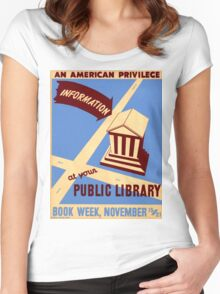 Vintage poster - Book Week Women's Fitted Scoop T-Shirt