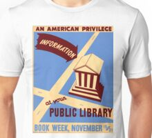 Vintage poster - Book Week Unisex T-Shirt