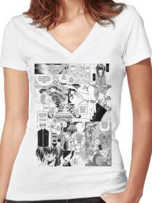 My Manga-reading Journey Women's Fitted V-Neck T-Shirt