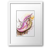 Bird Eats Sun Framed Print