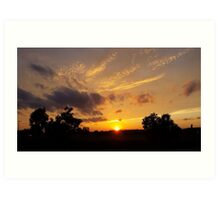 As the sunsets Art Print