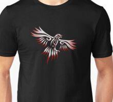White Raven Tribal Design Unisex T-Shirt