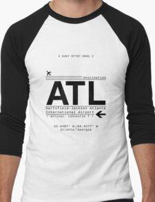 ATL Atlanta International Airport Call Letters Men's Baseball ¾ T-Shirt