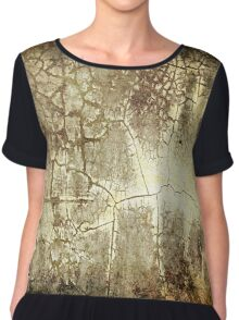 Brown Crackle Chiffon Top