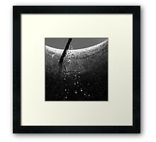 Urban Rainfall Framed Print