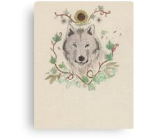 Flower pup Canvas Print