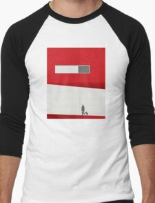 Funky Little Red Building Men's Baseball ¾ T-Shirt