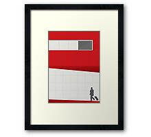 Funky Little Red Building Framed Print