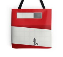Funky Little Red Building Tote Bag