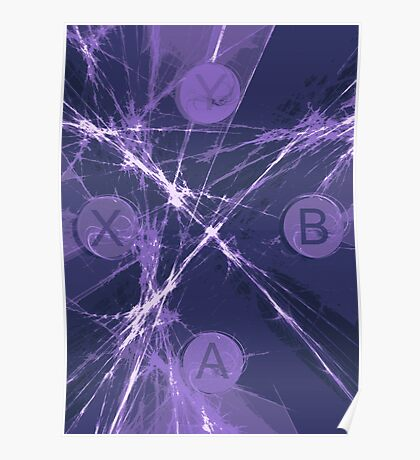 XBox Controller  Violet Poster