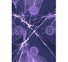 XBox Controller  Violet Photographic Print