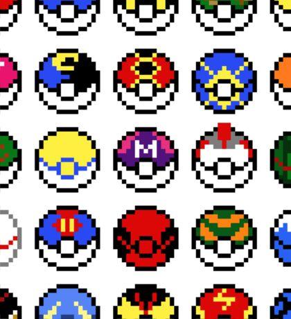 Pokeballs - pixel art Sticker