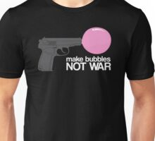 Make bubbles not war Unisex T-Shirt
