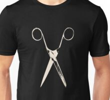 Scissors - creme white Unisex T-Shirt