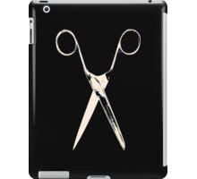 Scissors - creme white iPad Case/Skin