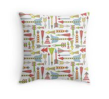 colorful arrow pattern Throw Pillow