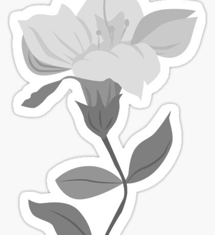 Lily in Black and White Sticker